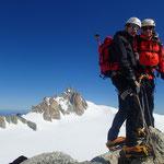 Hervé et Gérard au sommet de la Pointe Lachenal