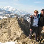 Marie-Catherine et Jean-Luc au sommet