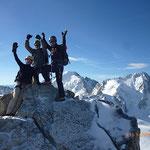 La belle équipe au sommet de l'Aiguille du Tour