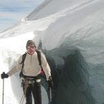 Une crevasse au coeur du glacier
