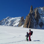 Sur le Glacier du Géant, devant le Mont-Blanc