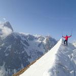 Didier au sommet de l'antécime 2644 m