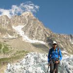 Les séracs du glacier et le Chardonnet