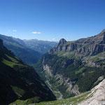 Coup d'oeil sur la vallée avant de remonter le Lapi du Ruan