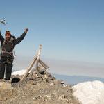 Fred au sommet du Grand Mont Ruan