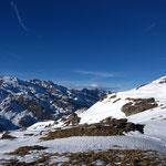 Ruitor à gauche, Mont Blanc au fond