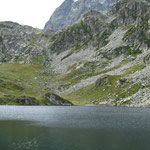 Le Lago Fiorenza et le Viso dans les nuages