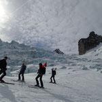Sous les séracs du Glacier du Géant
