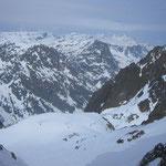 Glacier de Beugeant au premier plan, Tenneverge et compagnie dans le lointain.