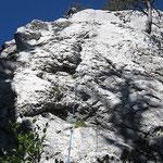 Rocher du Béard, face Ouest partie supérieure, au Parmelan.