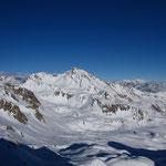 Combin, Breithorn, Mont Rose à l'horizon