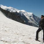 Le Mont-Blanc en toile de fond