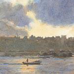 Prins Hendrikkade Amsterdam. Watercolour. 25 x 35 cm SOLD