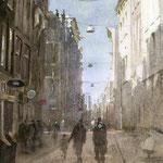 Warmoesstraat Amsterdam. Watercolour. 50 x 35 cm SOLD