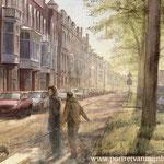 Regentesselaan, The Hague. Watercolour 35 x 50 cm