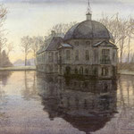 Huis de Trompenburgh 's Gravenland. Watercolour. 30 x 40 cm