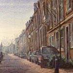 Schoolstraat Utrecht. Aquarel. 30 x 40 cm
