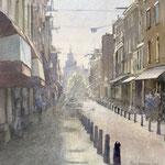 Nieuwe Spiegelstraat Amsterdam. Watercolour. 40 x 40 cm