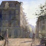 Reestraat Amsterdam. Watercolour. 35 x 50 cm