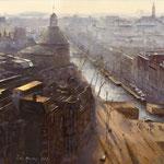 Ronde Lutherse Kerk Singel Amsterdam. Watercolour. 45 x 45 cm SOLD