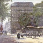 Buitenhof Maison de Bonneterie Den Haag. Watercolour. 35 x 50 cm SOLD