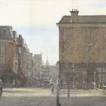 Mauritskade - Noordeinde Den Haag. Watercolour. 30 x 45 cm SOLD