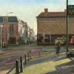 Mauritskade - Noordeinde Den Haag. Oil on canvas. 30 x 40 cm