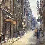 Molenstraat Den Haag. Watercolour. 30 x 40 cm SOLD