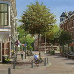 Weimarstraat Den Haag. Oil on canvas. 30 x 40 cm