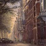Jan van Nassaustraat Den Haag. Watercolour. 40 x 38 cm