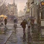 Lange Poten Den Haag II. Watercolour. 40 x 40 cm