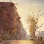Keizersgracht Amsterdam. Watercolour. 70 x 90 cm