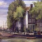 Kalkmarkt Amsterdam. Watercolour 30 x 40 cm