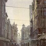 Lange Poten Den Haag III. Watercolour. 40 x 25 cm
