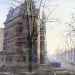 Regentesselaan - Columbusstraat Den Haag. Watercolour. 30 x 40 cm