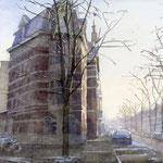 Regentesselaan - Columbusstraat Den Haag. Watercolour. 30 x 40 cm SOLD