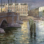 Amstel after the rain. Watercolour. 30 x 40 cm