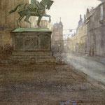 Hoogstraat Den Haag. Watercolour. 40 x 40 cm