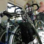 fahrende Fahrräder