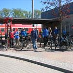 Start in Bad Freienwalde, da waren noch alle zusammen