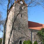 Kirche in Gramzow, auf dessen Friedhof Rosi Jakob begraben liegt