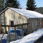 Hütte im Winterschlaf