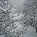 Papstdorf im Schnee
