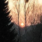 Sonnenuntergang an der Weinberghütte