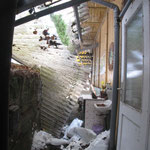Vordach nach dem Schnee 2011