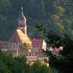 Kirche in Königstein von unserer Hütte aus