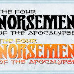 "LOGO DESIGN: ""The Four Norseman of the Apocalypse"" © Matt Sturges/FIRST COMICS"