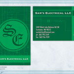 BUSINESS CARD DESIGN: Sam's Electric, Tumwater, WA