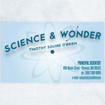 BRANDING DESIGN: Science & Wonder, Lacey, WA Business Card (Front)