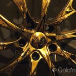 Vorher-Nachher: Chromfelgen 24 Karat vergolden